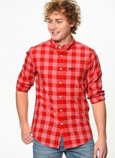 Lee&Wrangler Lee & Wrangler L880Gbef Button Down Gömlek Kırmızı